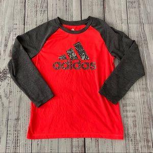 Adidas Boys Climalite 3/4 Sleeve Shirt.